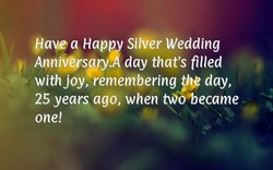 Maye a Happy Silver Wedding 
