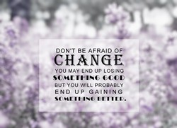 DON'T BE AFRAID OF• 