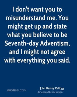 I don't want you to 