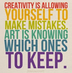 CREATIVITY IS ALLOWING 