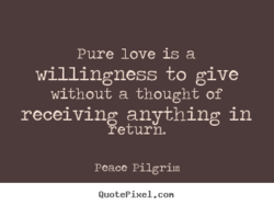 Pure love is a 