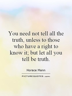 You need not tell all the 