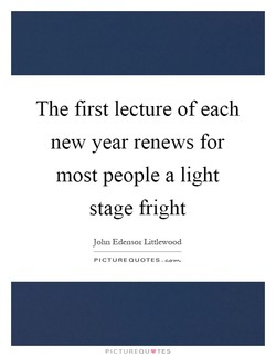 The first lecture of each 