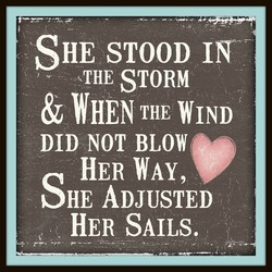 SHE STOOD IN 