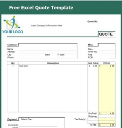 Free Excel Quote Template 