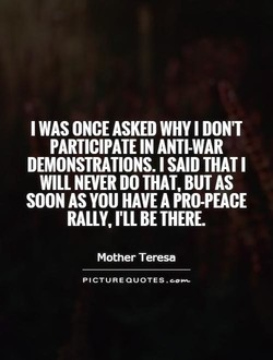 WAS ONCE ASKED WHY I DON'T 