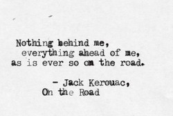 Nothing behind me, 