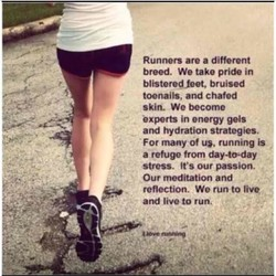 Runners are a different 