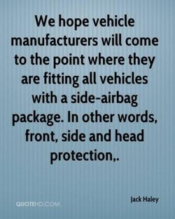 We hope vehicle 