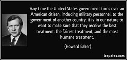Any time the United States government turns over an 