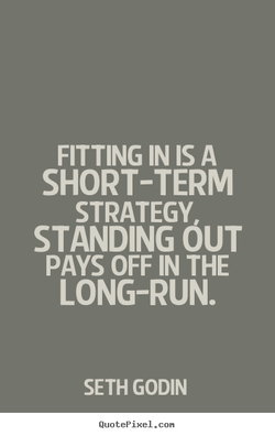 FITTING IN IS A 