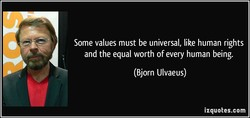 Some values must be universal, like human rights 