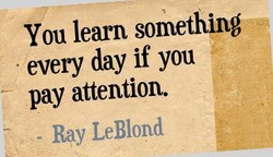 You learn something 
