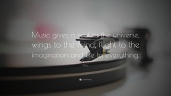 Music gives a 