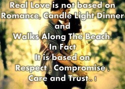 Real Love is not based on 