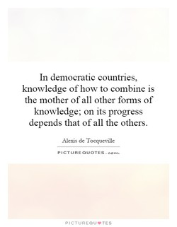 In democratic countries, 