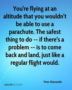 You're flying at an 