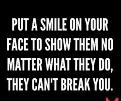 PUT A SMILE ON YOUR 