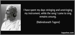 I have spent my days stringing and unstringing 