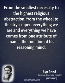 From the smallest necessity to 