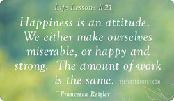 Life Lesson: #21 