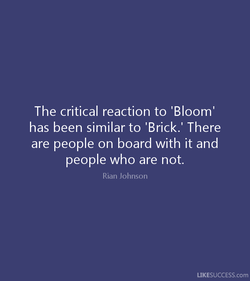 The critical reaction to 'Bloom' 