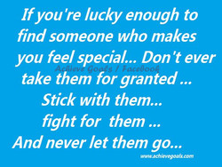 If you're lucky enough to 