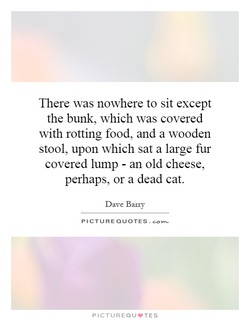 There was nowhere to sit except 