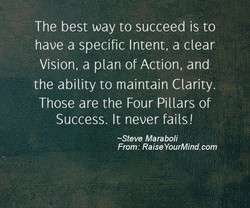 The best way to succeed is to 