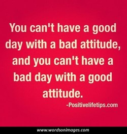 You can't have a good 