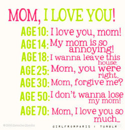 MOM I LOVE YOU! 