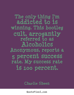 The only thins I'm 