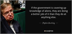 If the government is covering up 