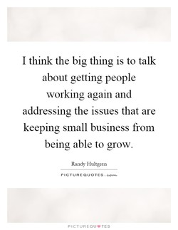 I think the big thing is to talk 