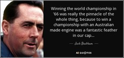 Winning the world championship in 