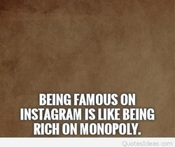 BEING FAMOUS ON 