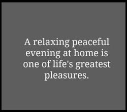 A relaxing peaceful 