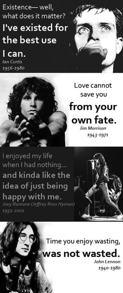 Existence— well, 