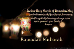 n this Month of Ramadan.Mau 