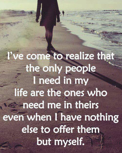 I've com+o realize that 