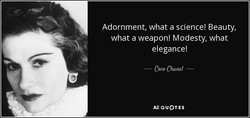 Adornment, what a science! Beauty, 