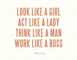 LOOK LIKE A GIRL 