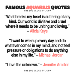 FAMOUS AQUARIUS QUOTES 