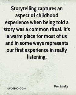 Storytelling captures an 