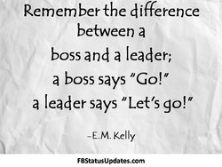 Remem ber the difference 