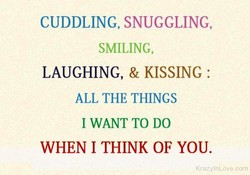 CUDDLING, SNUGGLING, 