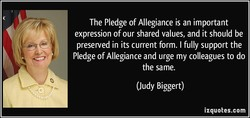 The Pledge of Allegiance is an important 