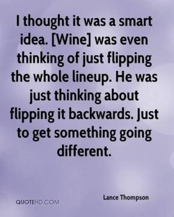 I thought it was a smart 