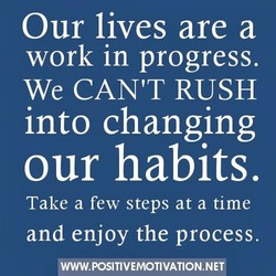 Our lives are a 