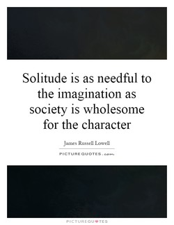 Solitude is as needful to 